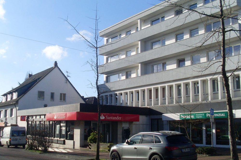 Wohn- und Geschäftskomplex in der Fußgängerzone von Bergkamen