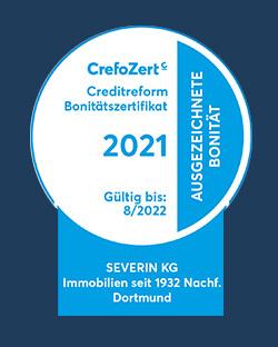 Creditreform CrefoZert 2021 Siegel